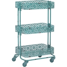 Linon Nicole 3 Tier Metal Storage