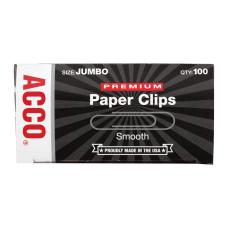ACCO Premium Jumbo Paper Clips 1