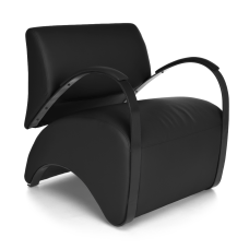 OFM Recoil Series Lounge Chair Black