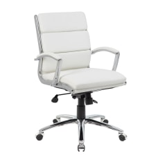 Boss Caressoft Mid Back Chair White