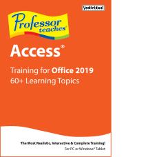 Individual Software Professor Teaches Access 2019