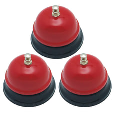 Decorative Call Bell Red Pack of