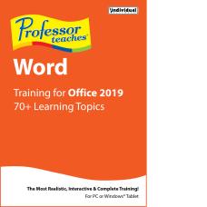 Individual Software Professor Teaches Word 2019