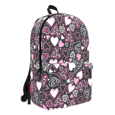 Space Junk Pattern Geometric Backpack With