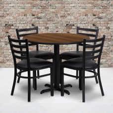 Flash Furniture Round Table With X