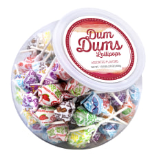 Dum Dum Lollipops Candy Bowl Assorted