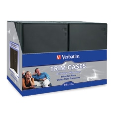 Verbatim DVD Trim Cases Black Pack