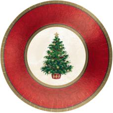 Amscan Classic Christmas Tree Round Metallic