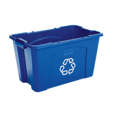 Rubbermaid Commercial Rectangular Polyethylene Stacking Recycle