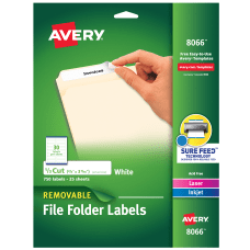 Avery Removable File Folder Labels Inkjet