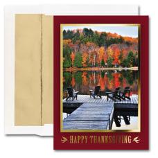 JAM Paper Thanksgiving Card Set Quiet