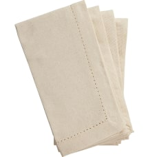 Amscan Fabric Hem Stitch Napkins 18