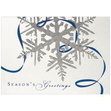 JAM Paper Christmas Card Set Silver