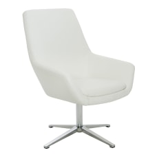 Office Star Tubby Chair WhiteAluminum