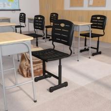 Flash Furniture Adjustable Pedestal Frame Student