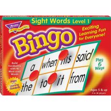 Trend Sight Words Bingo Game