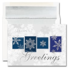 JAM Paper Christmas Card Set Snowflake