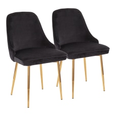 LumiSource Marcel Dining Chairs GoldBlack Set