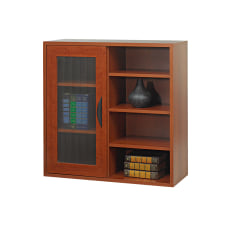 Safco Apres Single Door Bookcase Cherry