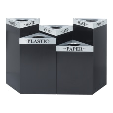 Safco Trifecta Steel Receptacle Base 15