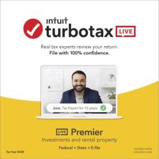TurboTax LIVE Online Premier 2020 Federal