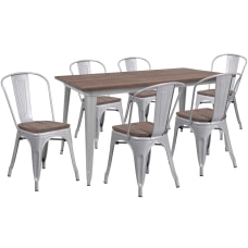 Flash Furniture Metal Table Set With