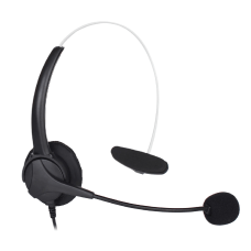 Centon On Ear Monoaural Headset Black