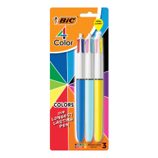 BIC 4 Color Retractable Ballpoint Pens