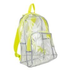 Eastsport Clear PVC Backpack Citrus