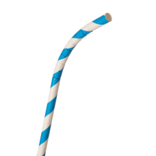 ECO Products Flexible Paper Straws Blue