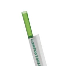 ECO Products Compostable Plastic Straws Green
