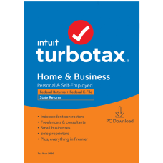 TurboTax Desktop Home Business 2020 Federal