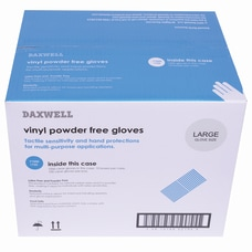 Daxwell Vinyl Gloves Large Clear 100