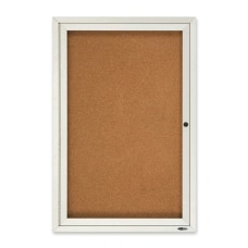Quartet Classic Style Enclosed Cork Bulletin