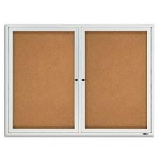 Quartet Classic Enclosed Cork Bulletin Board