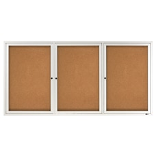 Quartet Classic Enclosed Cork Bulletin Board