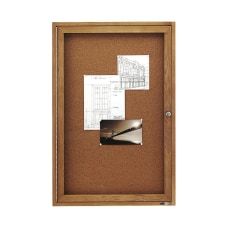 Quartet Enclosed Bulletin Board 36 x