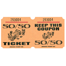 Amscan 5050 Ticket Roll Orange Roll