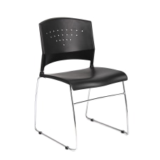 Boss Office Products Stack Chairs BlackChrome