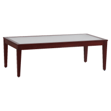 Lorell Glass Top Coffee Table ClearMahogany