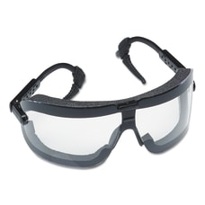 Fectoggles Impact Goggles Large ClearBlack Adjustable