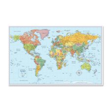 Rand McNally World Wall Map 32