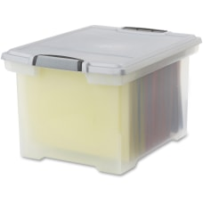 Storex Tote Stackable Storage Box With