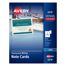 Avery Confetti Textured Heavyweight Note Cards