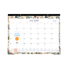 Blue Sky Academic Monthly Desk Calendar