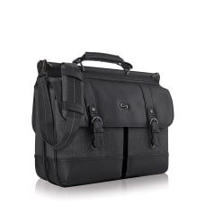 Solo Thompson 156 Laptop Briefcase Black
