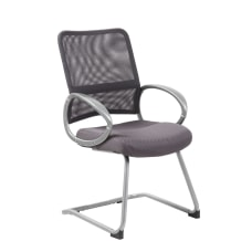 Boss Mesh Guest Chair Charcoal GrayPewter