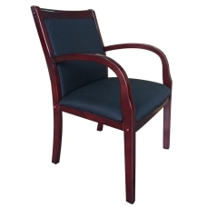 Boss Side Guest Chair BlackMahogany