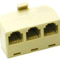 C2G 2 Line Telephone Splitter Cream