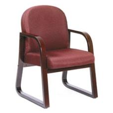 Boss Wood Reception Room Chair BurgundyMahogany